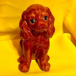 VINTAGE ADORABLE PORCELAIN DOG FIGURINE